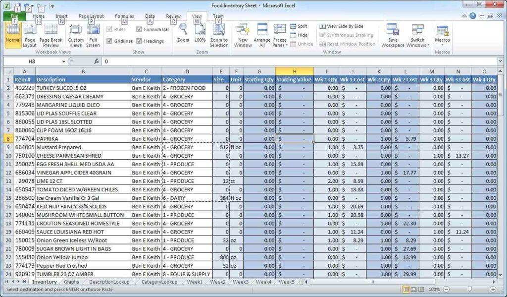 Inventory Spreadsheet Template   HAISUME