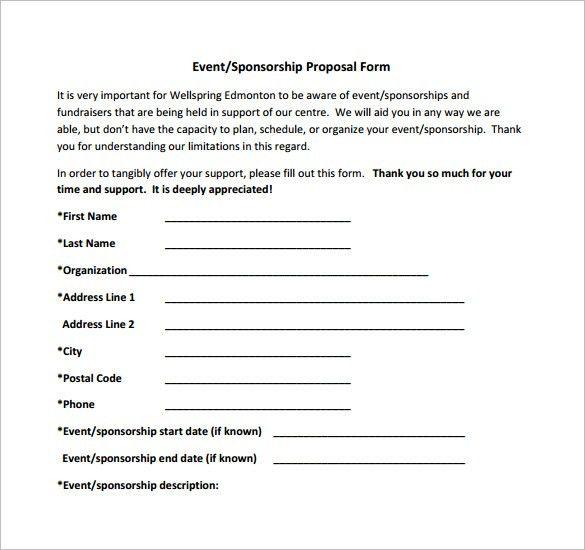 4+ Free Sponsorship Proposal Templates - Excel PDF Formats