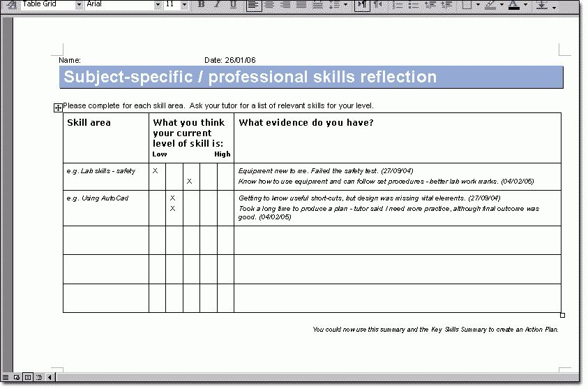 Personal Development Plan Template   How To Write Personal ... EPortfolios:  Approach  Personal Development Plan Template Excel