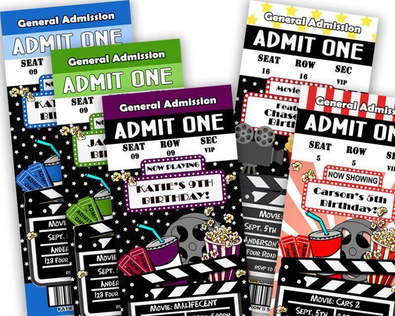 Ticket Birthday Invitations – gangcraft.net