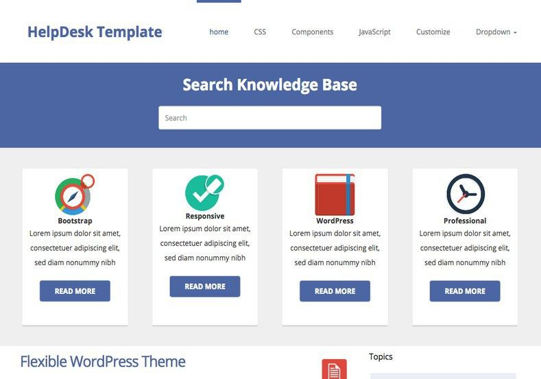 HelpDesk Theme Responsive Blogger Template 2014 Free Download
