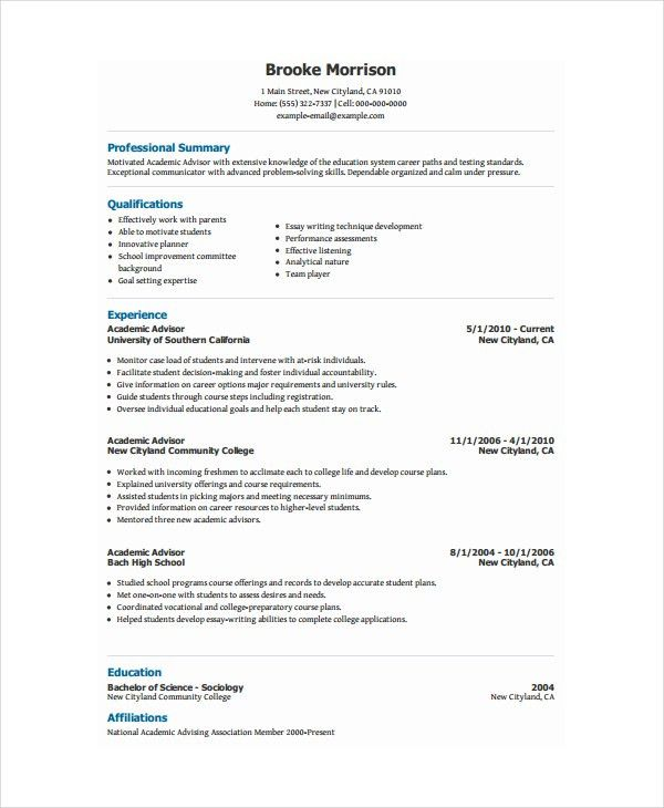 College Scholarship Resume Template 14565 | Plgsa.org