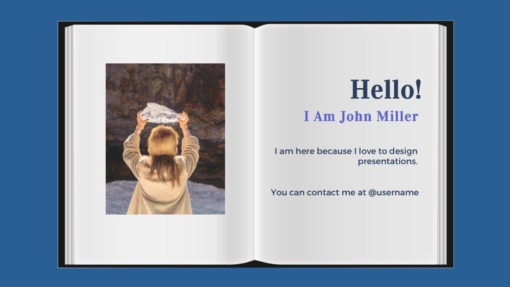 Book Powerpoint Template - Free Presentation Theme