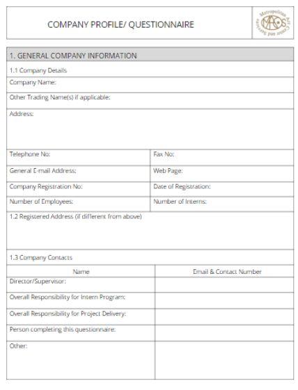 Amazing Free Company Profile Template Word Photos - Best Resume ...