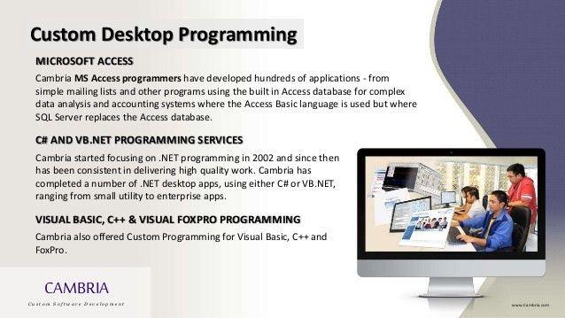 Cambria Custom Programming