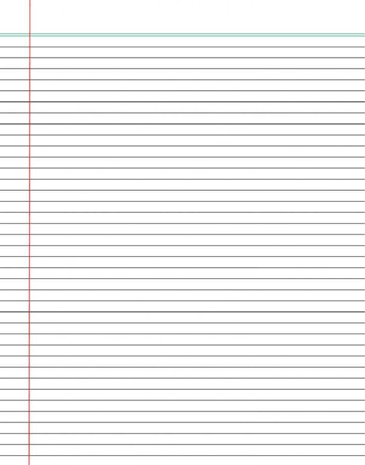 Free Printable Notebook Paper College & Wide Ruled
