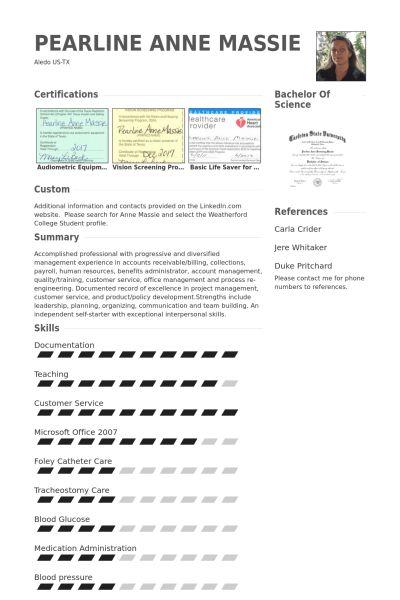 Bartender/Server CV Örneği - VisualCV Özgeçmiş Örnekleri Veritabanı