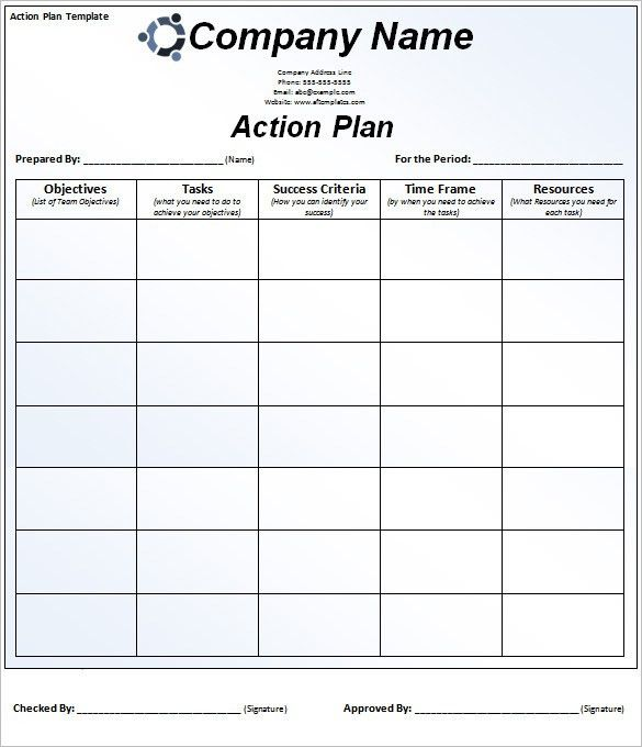 Action Plan Template - 110+ Free Word, Excel, PDF Documents | Free ...