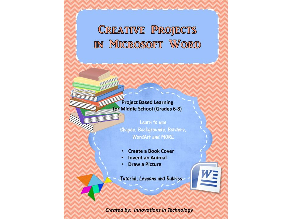 Creative Projects using Microsoft Word: Shapes, WordArt, Borders ...