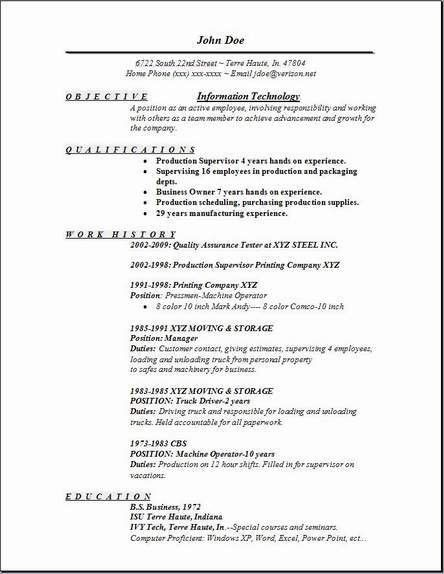 Information Technology Resume Template. Information Technology ...