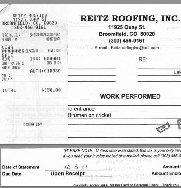 Roofing Receipt U0026 Roofing Invoice Template * Invoice Template .