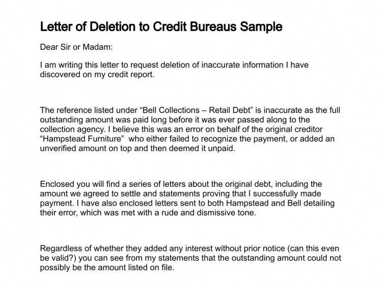 dispute letters that work dispute letters for credit repair ...