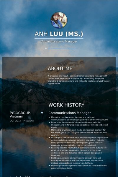 Communications Manager Resume samples - VisualCV resume samples ...