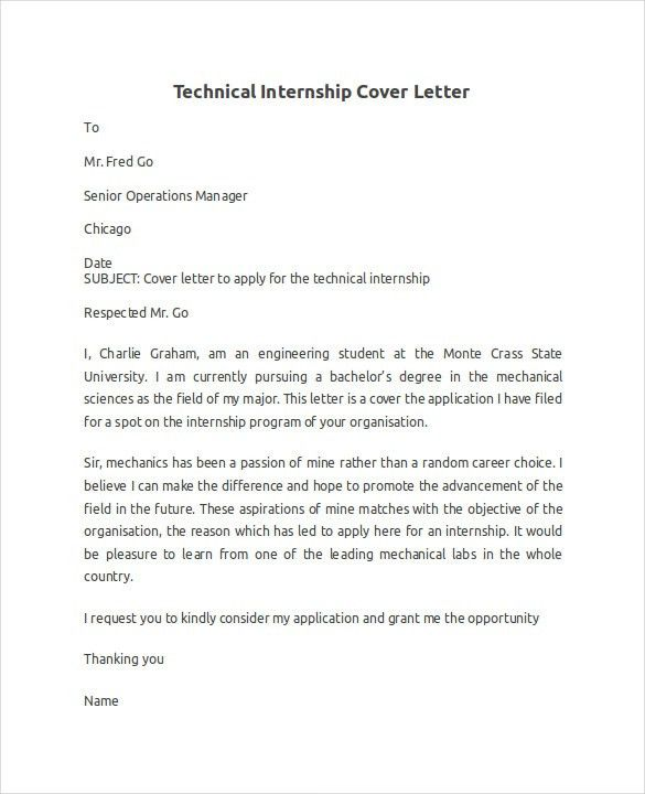 Technology Cover Letter Examples within Technical Cover Letter ...
