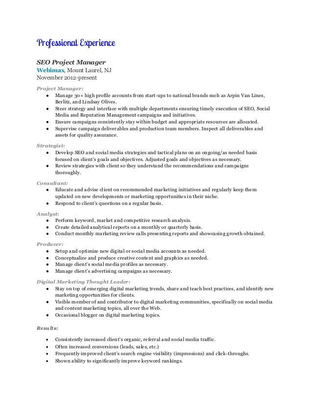 digital marketing manager resume samples visualcv resume samples ...