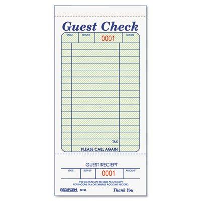 Rediform® Guest Check Book at Nationwide Industrial Supply, LLC