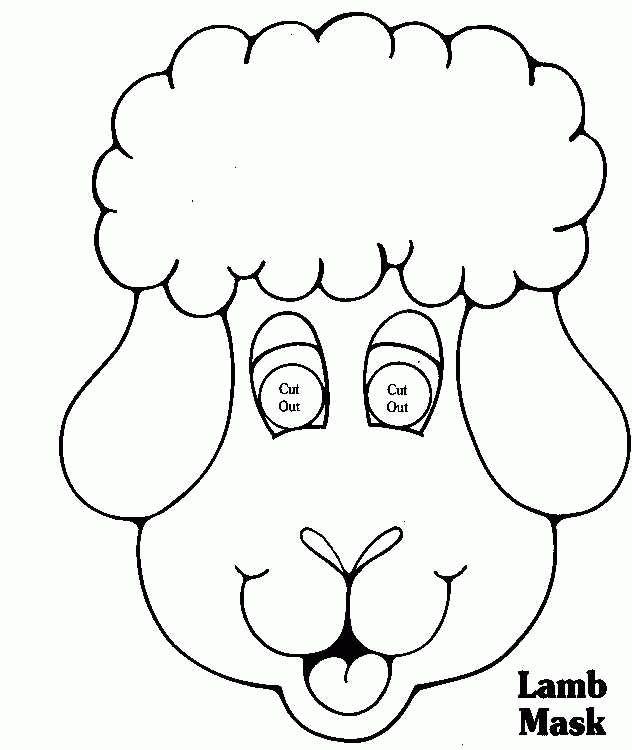 Happy Lamb Mask | Homemade Farm Animal Costumes | Pinterest ...