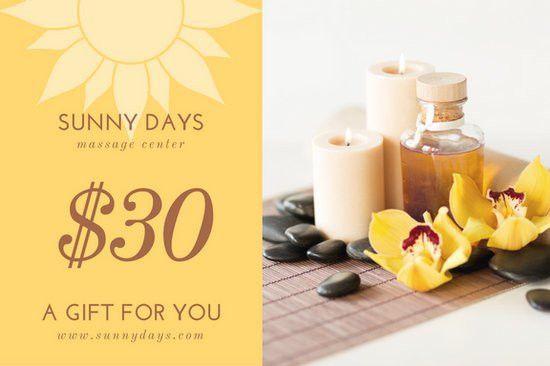 Massage Gift Certificate Templates - Canva