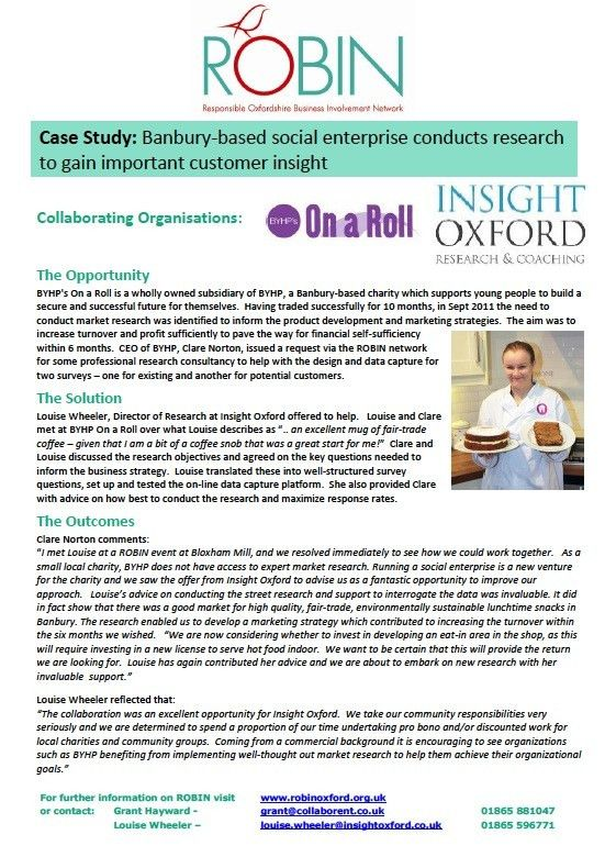 ROBIN Case Studies - examples of collaborations