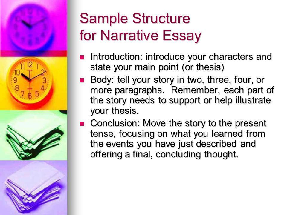 Narration Essay A Sample Structure. - ppt video online download