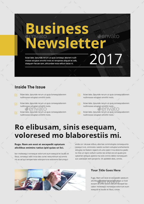 Newsletter Template by themedevisers | GraphicRiver