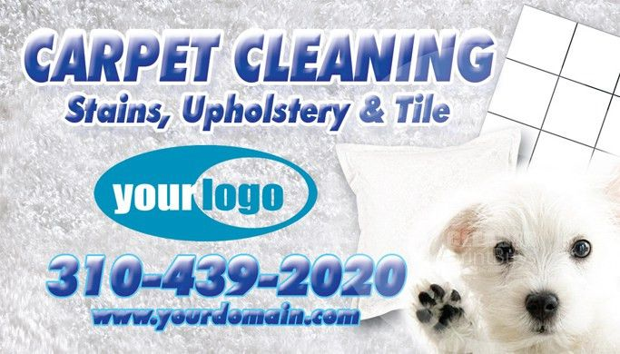 Carpet Cleaning Business Cards #C0005 (FRONT VIEW)