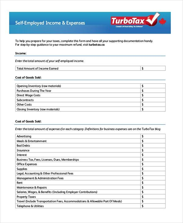 Sample Self Employment Forms - 10+ Free Documents in Word, PDF