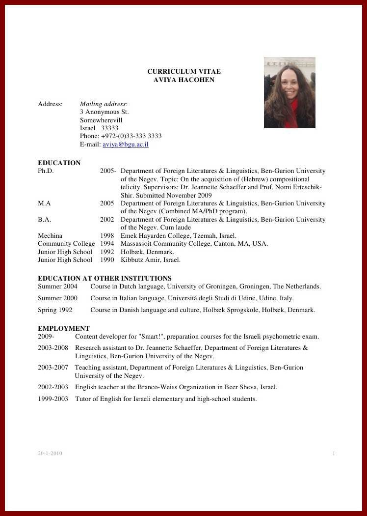Graduate School Resume. Sample Graduate School Resume In Pdf ..