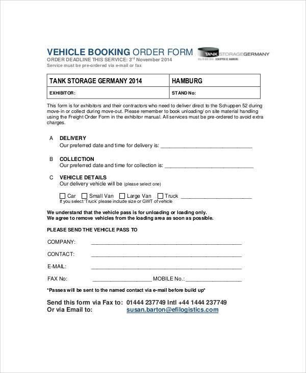 Delivery Order Form - 6+ Free Documents in Word, PDF