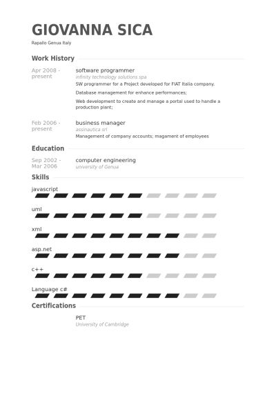 Software Programmer Resume Programmer Resume, Software Programmer