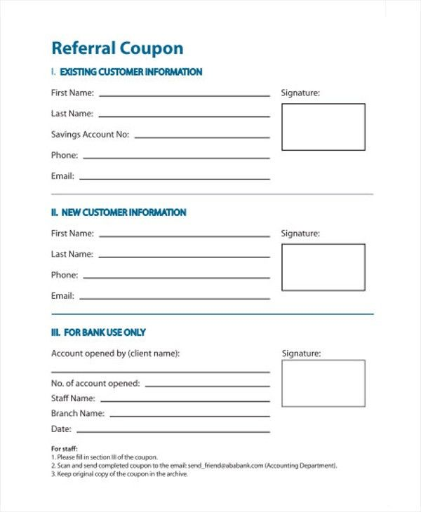 Charming Sample Referral Coupon Template   9+ Download In PDF, PSD