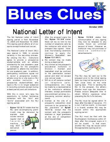 Understanding the National Letter of Intent - The National High ...