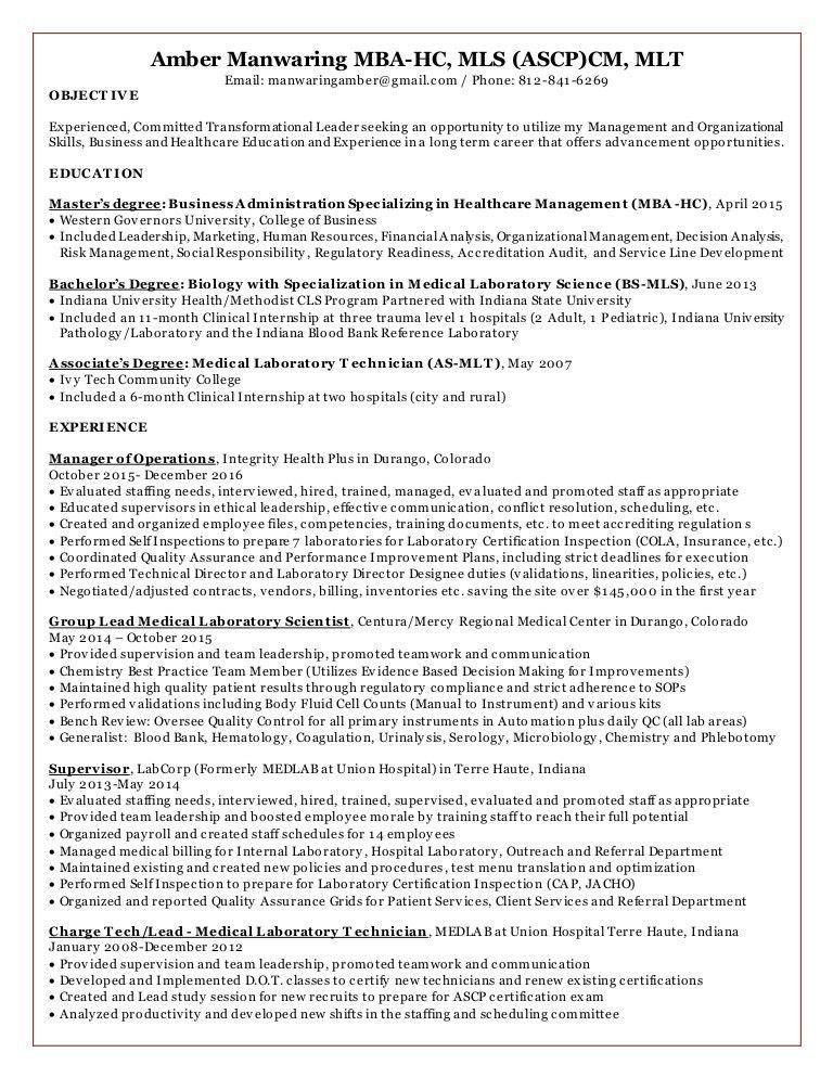 Amber's Resume