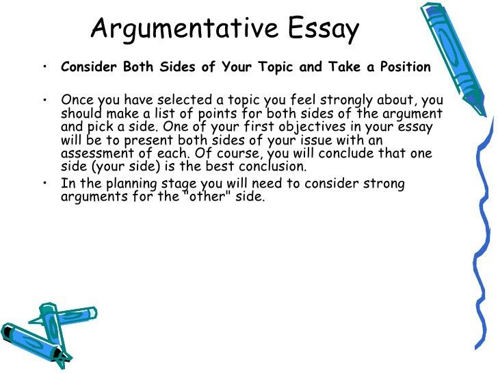 writing argumentative essay examples of argumentative thesis ...