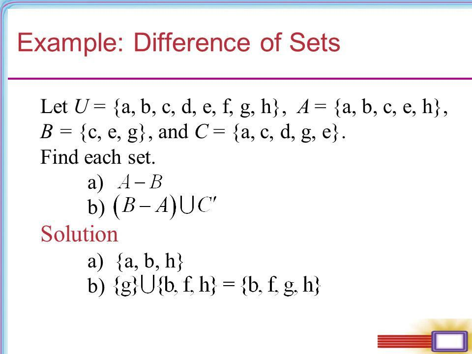 The Basic Concepts of Set Theory. Chapter 1 Set Operations and ...