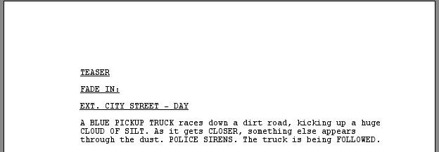 Screenplay Template. The Screen Image Produced By The Word ...