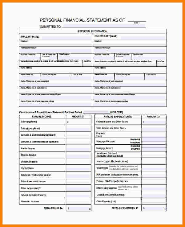 Financial Statement Template. Projected Income Statement Template ...