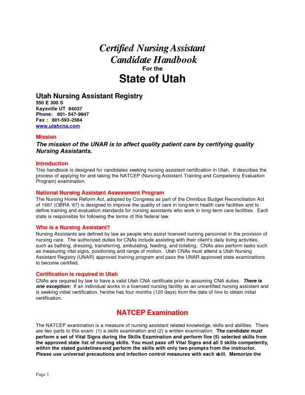 Cover Letter certified nursing assistant cover letter
