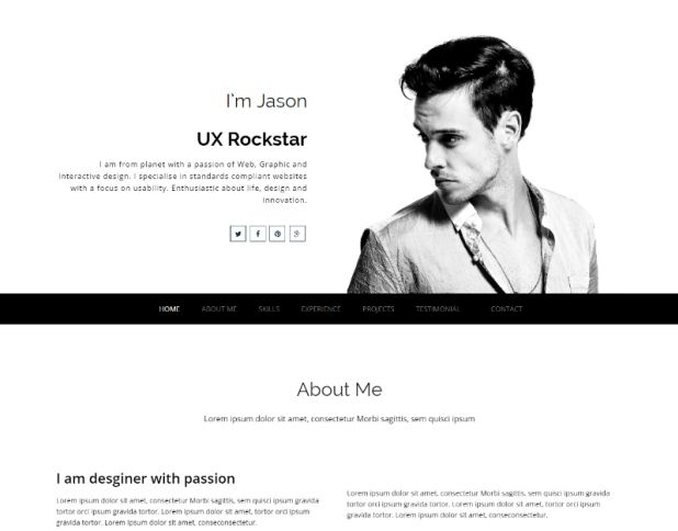 15 Best Free Resume Html Website Templates 2017 Download Now