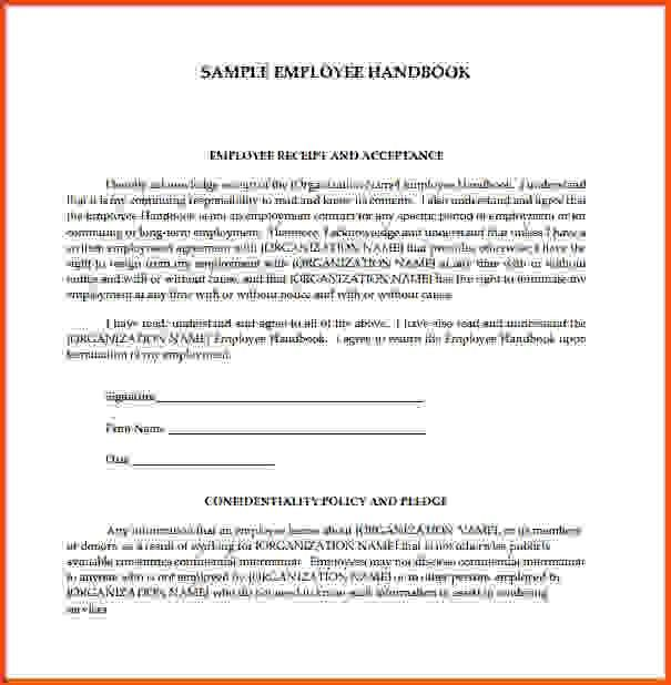 14 employee handbook template | Sponsorship letter