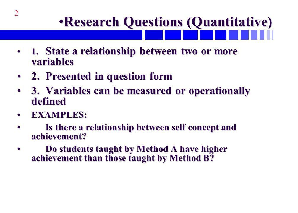 Characteristics of a Research Question - ppt download