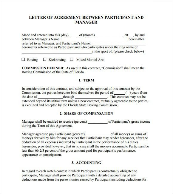 New Agreement Letter Of Commission Graphics  Complete Letter