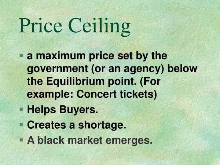 PPT - Price Floor and Price Ceiling PowerPoint Presentation - ID ...