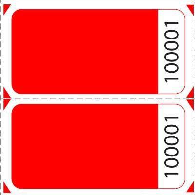 Blank Double Roll Raffle Tickets | US-TICKET.COM