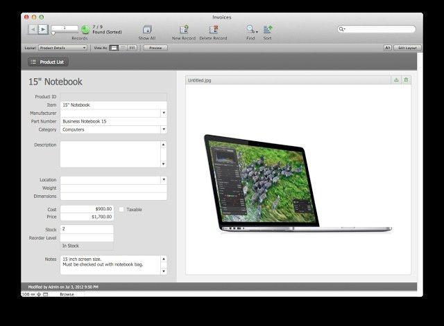 Filemaker Pro Invoice Template * Invoice Template Ideas