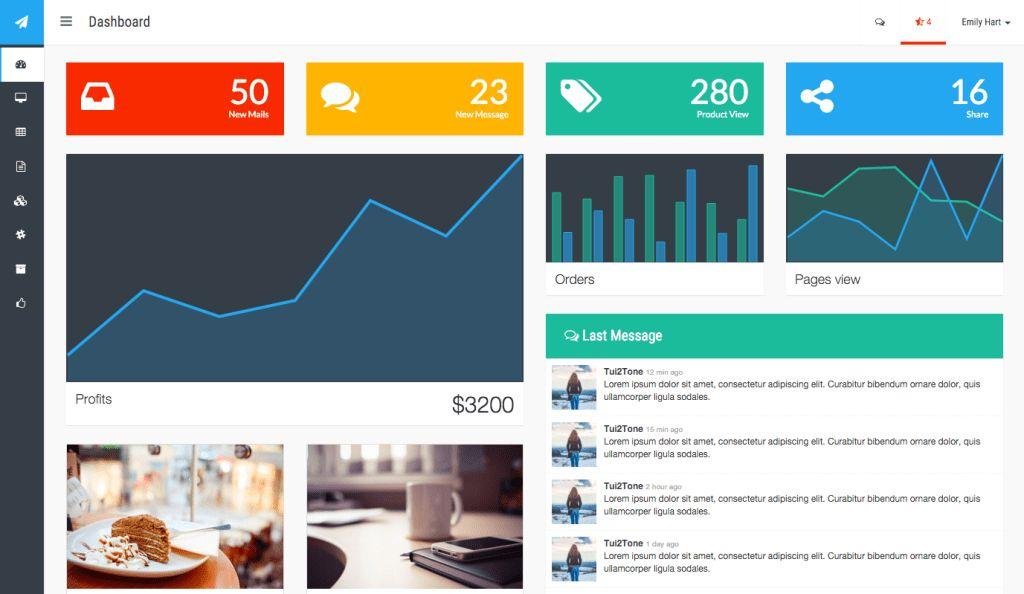 40+ Best Bootstrap HTML5 Admin & Dashboard Templates 2017