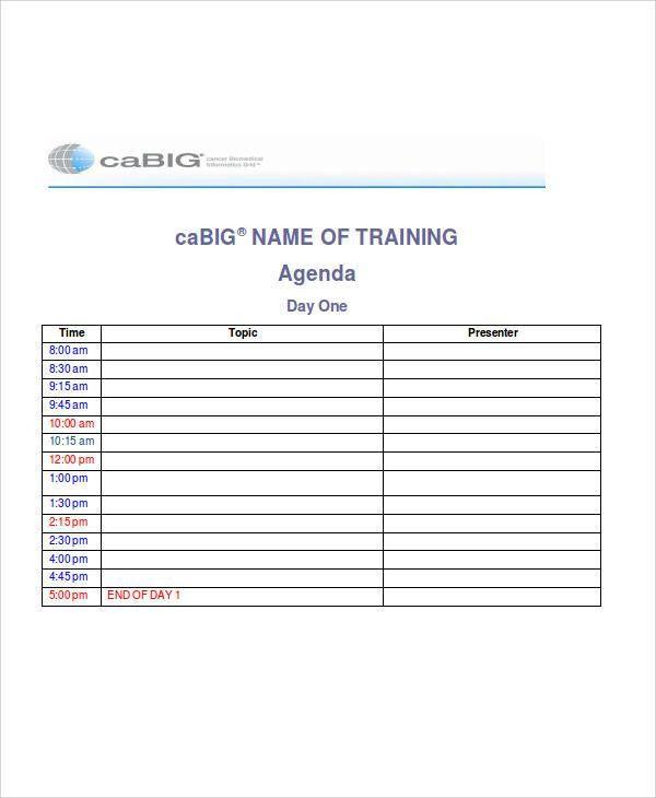 39+ Agenda Examples