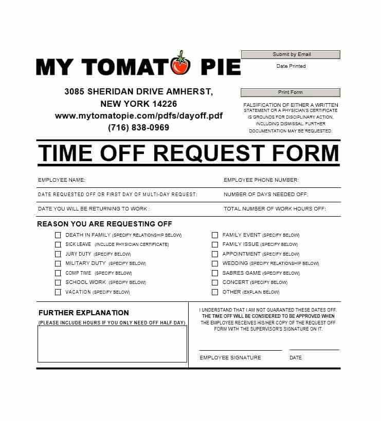 Vacation Request Form Template - Contegri.com