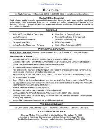 Medical Billing Resume Sample - SharePDF.net | resume | Pinterest ...