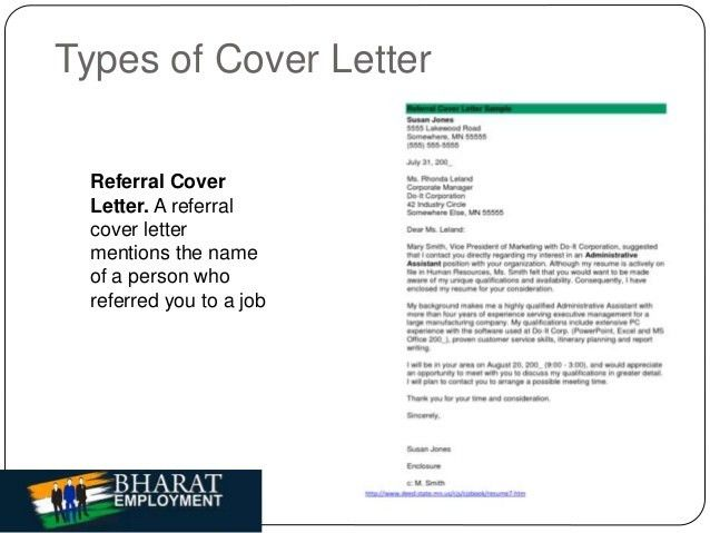 Bharat Employment | Cover letter